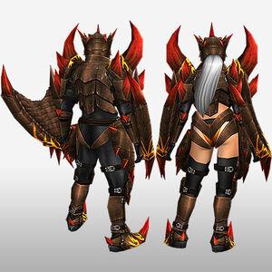 FrontierGen-Ranpeji Armor (Both) (Back) Render