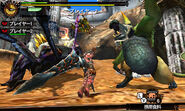 MH4U-Emerald Congalala and Shrouded Nerscylla Screenshot 001