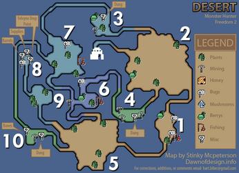 Desert gathering map(MHF2)