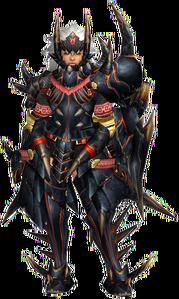 FrontierGen-Akamuto G Armor (Gunner) (Female) Render 001