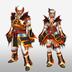 FrontierGen-Mikagura G Armor (Blademaster) (Front) Render