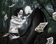 Jeff the killer vs slenderman by alainisc-d6zeaay