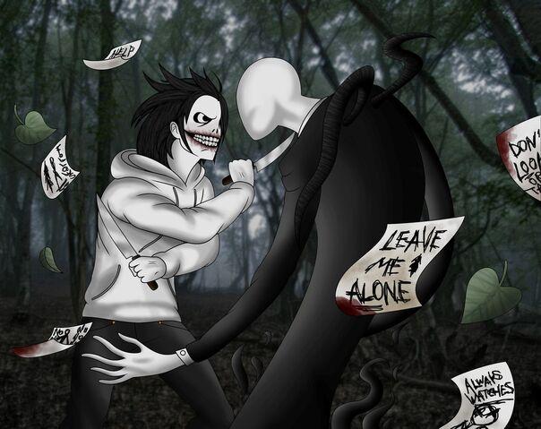 File:Jeff the killer vs slenderman by alainisc-d6zeaay.jpg
