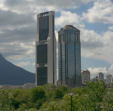 Torre CNCI (izq.) junto a la Torre Comercial América