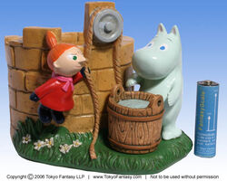 Moomin valley well holder