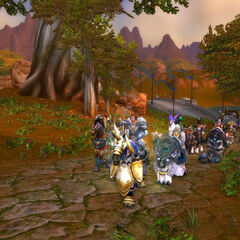 Manstein participating in an offensive action  lead by Sir Theodore Varill to purge Redridge of a group of cultists.