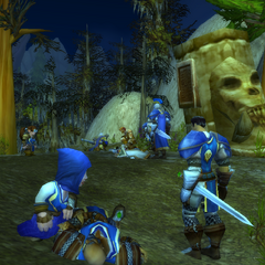 Clearing an ogre mound in Loch Modan.