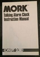 Mork from Ork Talking Alarm Clock 08 Instruction Book