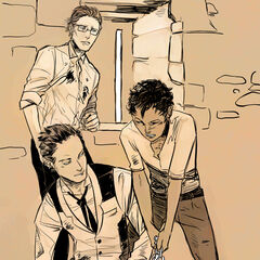 Luke, Magnus & Raphael in their prison