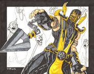 Scorpion sketch by marvin000-d6hn3u5