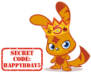 5th Birthday Hat secret code