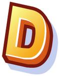 WallScrawl Alphabet - D