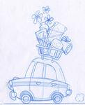 Rocketboots Movie unused car design