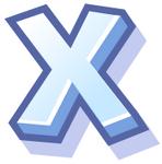 WallScrawl Alphabet - X