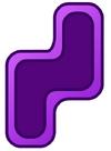 Violet Puzzle Shelf