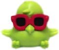 DJ Quack figure goo green