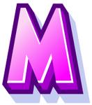 WallScrawl Alphabet - M
