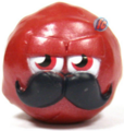 Mustachio figure bauble red