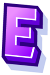 WallScrawl Alphabet - E