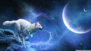 Magic white wolf-wallpaper-1280x720
