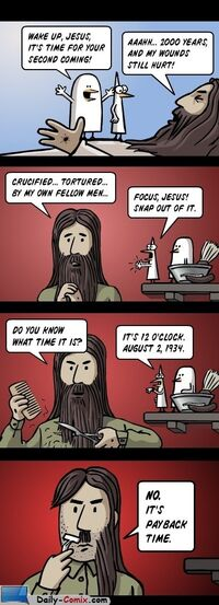 http://www.daily-comix.com/the-2nd-comming-jesus-payback-time-comic-424