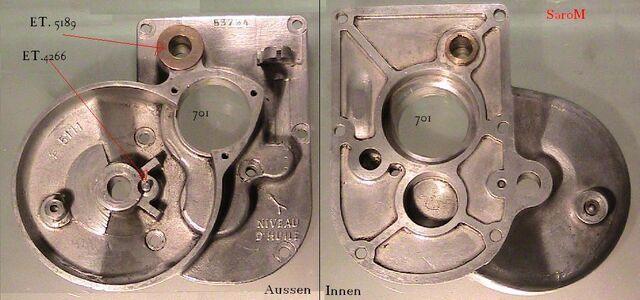 Datei:Einzelteile Getriebe Getriebedeckel.JPG