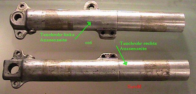Datei:Sarolea Telegabel Einzelteile Tauchrohr links u rechts.JPG