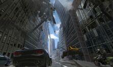Motorstorm apocalypse conceptart falling building