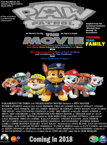 File:PAW Patrol The Movie Theatrical poste.png