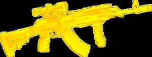 Gold machine gun