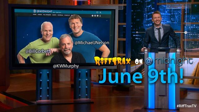 File:RiffTrax gang on @midnight Comedy Central show with Chris Hardwick.jpg