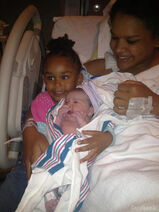 Ebony and new daughter
