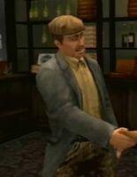 Joel shaking hands