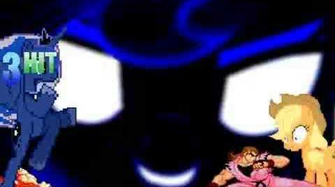 Mugen Dan (Me) & Princess Luna vs Applejack & Ken
