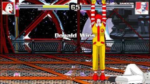 MUGEN Ronald McDonald vs Colonel Sanders