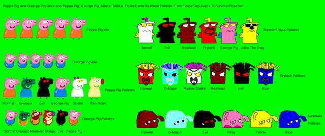 File:Peppa, George, Shake, Frylock and Meatwad Palletes.PNG