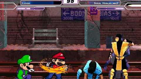 SM Mugen Battle 16 Mario & Luigi vs Scorpion & Sub-Zero