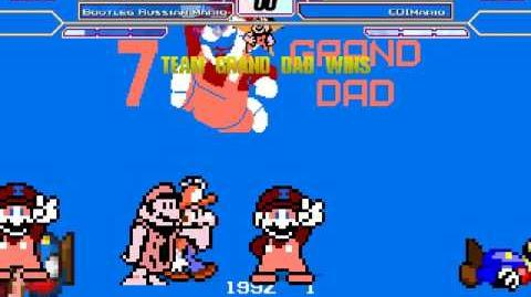 B MUGEN Grand Dad and Mario 4 Bootleg vs Plom Mario and CDI mario
