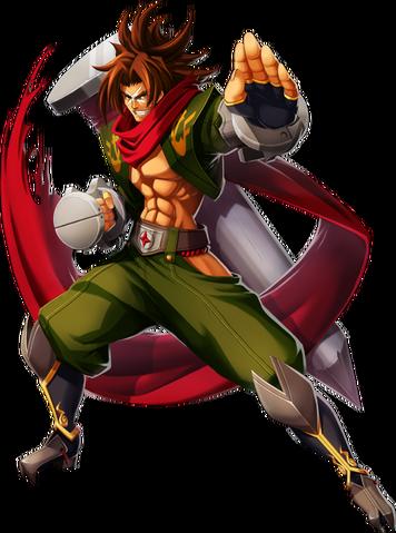 File:Bang Shishigami (Chrono Phantasma, Character Select Artwork).png