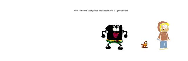 File:Symbiote Spongebob and Robot Crow & Tigre Garfield for M.U.G.E.N!.png