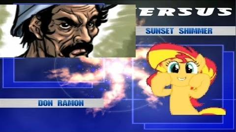 MUGEN Don Ramon vs Sunset Shimmer
