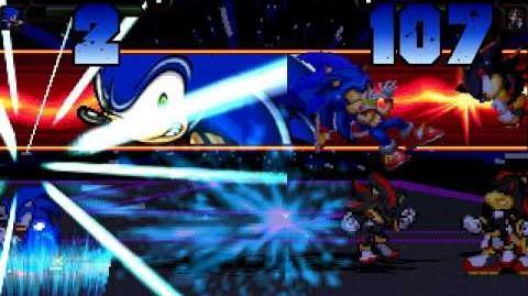 B MUGEN the ol Battle of sonic vs shadow 4v4 MUGEN style