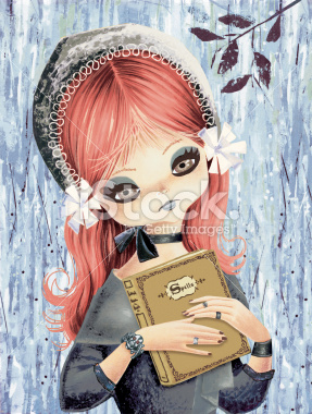 File:Big Eyed Girl with Book of Spells.jpg