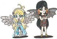 Chibified angelic cuteness by coopergal24-d7c7tgf