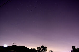 Southern Cross over Melbourne