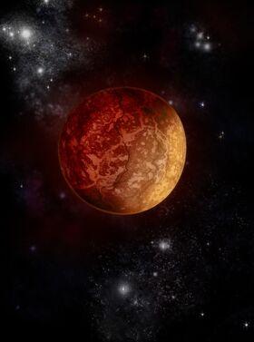 Wonderful burning planet