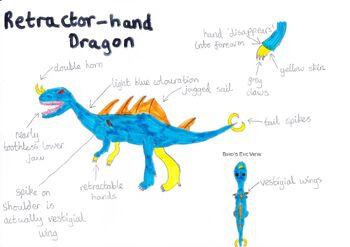 Retractor hand dragon