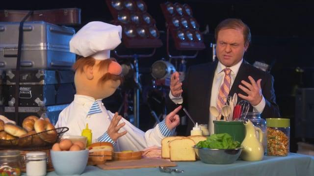 Caliendo hangs with The Muppets