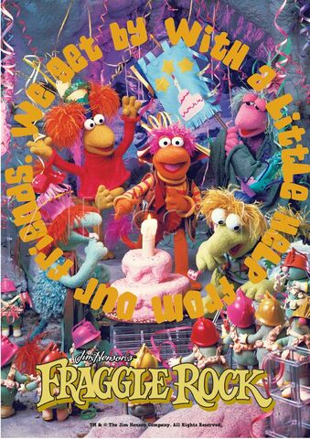 File:Poster Fraggle Rock-We Get By With A Little Help From Our Friends.jpg