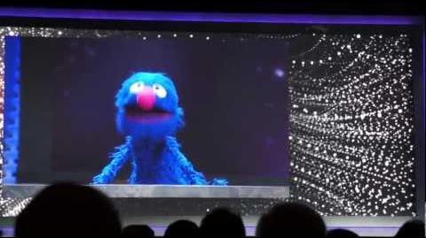 Sesame Street's Grover at Qualcomm's CES 2012 Keynote